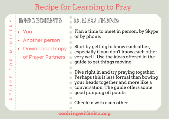 RECIPE FOR MINISTRY